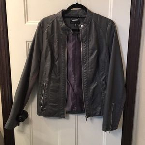 Worthington grey leather jacket